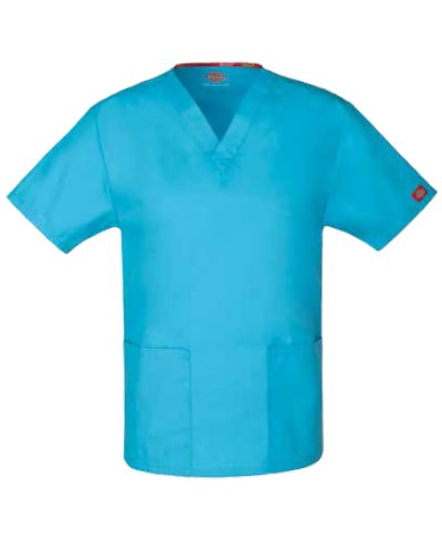 Filipina Dickies Medical Cuello V 86706 Unisex con Dos Bolsas